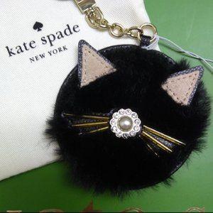 Kate Spade Cat Key Fob (NWT)